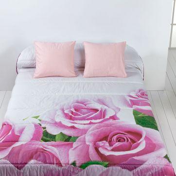 "Edredón Comforter ""Rosas"" Estampado"