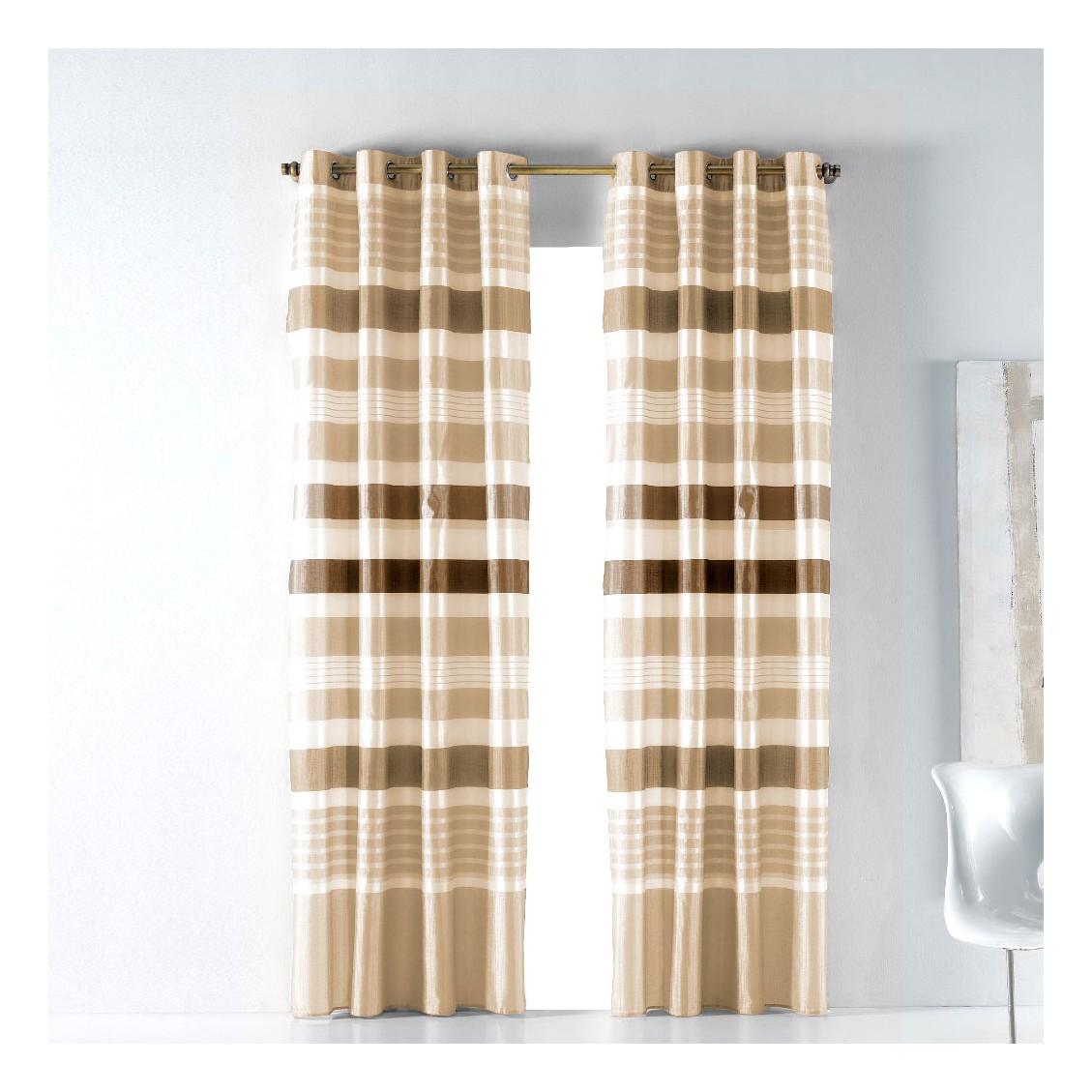 Cortina lanzarote 8 anillas cortinas rayas sal n comedor - Cortinas el visillo ...