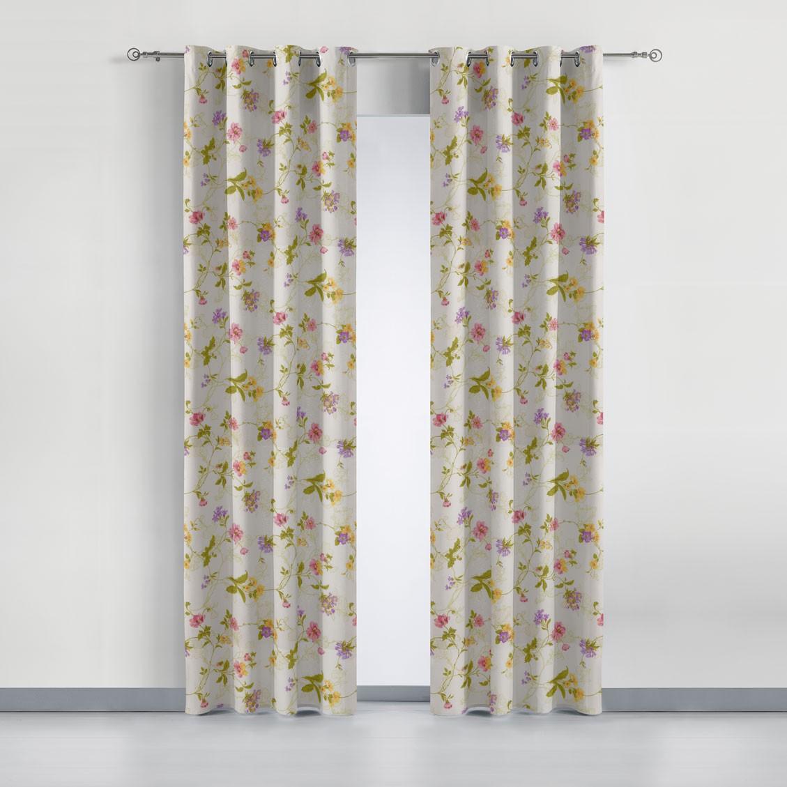 Cortina estampada sara cortinas sal n cortinas comedor barcel - Anillas de cortinas ...